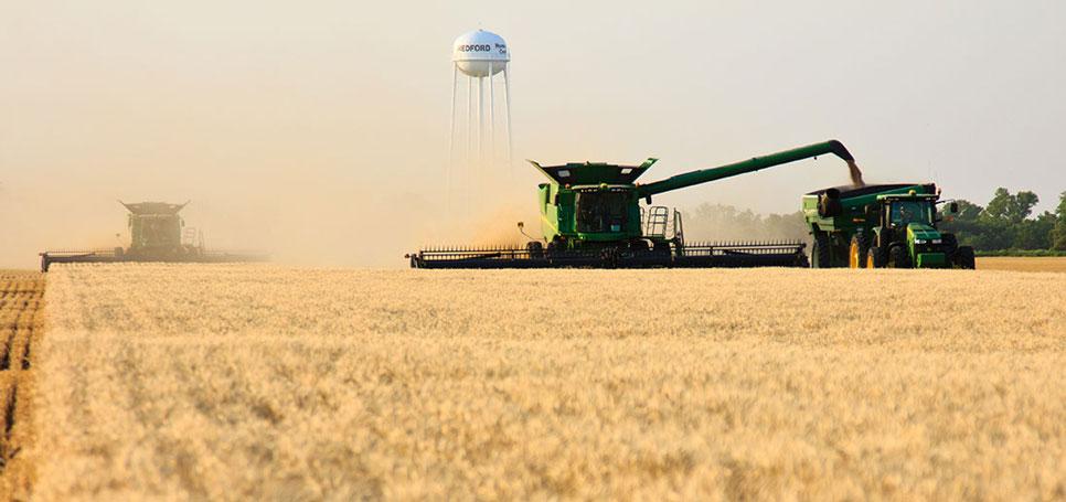 Oklahoma wheat harvest