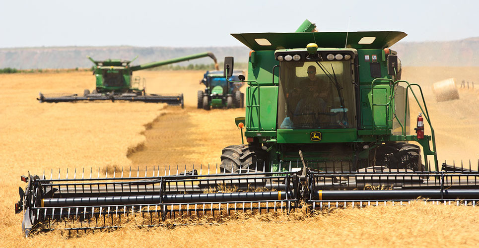 Wheat harvest in Oklahoma