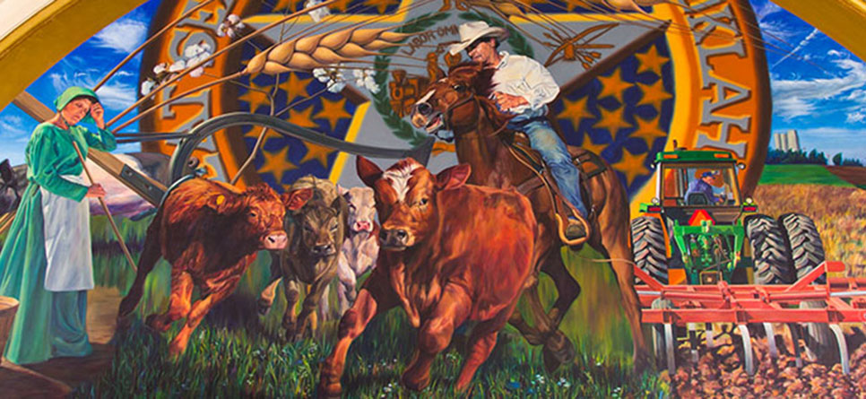 Oklahoma House of Representatives agriculture mural